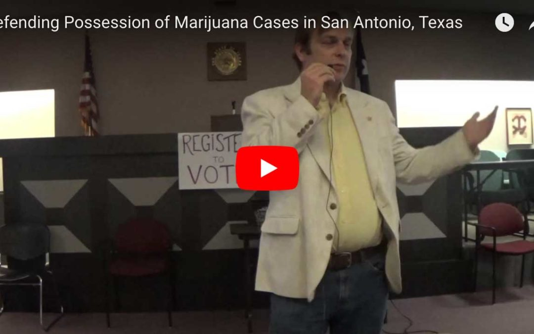 Defending Drug Cases in Bexar County
